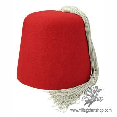 B2B Red Fez with Grey Tassel - Master Carton