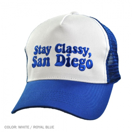 B2B Stay Classy, San Diego Ball Cap (White/Royal)