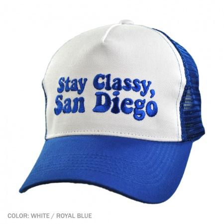 Village Hat Shop Village Hat Shop - B2B Stay Classy, San Diego Ball Cap (White/Royal)