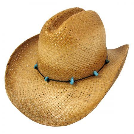 B2B sur la tete Calamity Straw Cattleman Western Hat