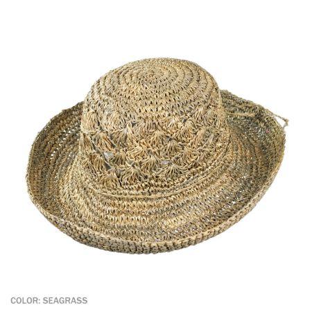 B2B sur la tete Crochet Seagrass Boater Hat (Seagrass)