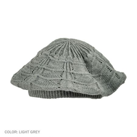 B2B sur la tete Knit Beret (Light Gray)