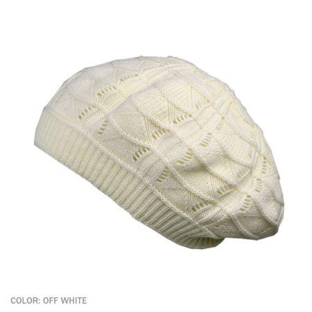 B2B sur la tete Knit Beret (Off White)