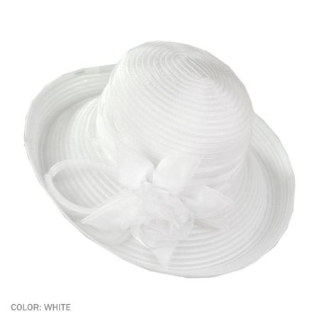 B2B sur la tete Organza Ribbon Kettle (White)