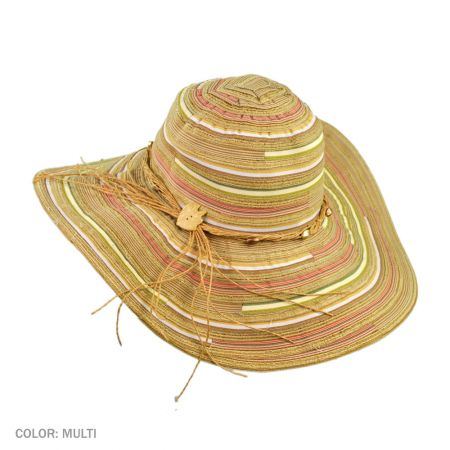 B2B sur la tete Santa Cruz Sun Hat (Multi Color)