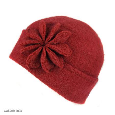 B2B sur la tete Starburst Beanie Hat (Red)