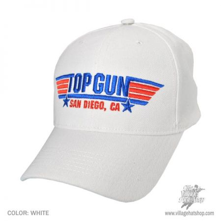 B2B Top Gun Snapback Baseball Cap - CLOSEOUT/BLOWOUT (White)