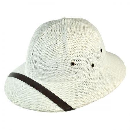B2B Toyo Straw Pith Helmet - White