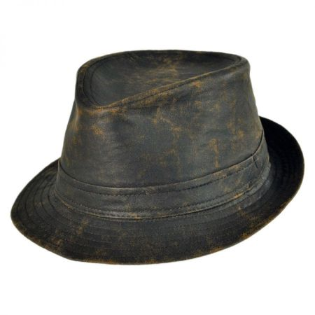 Jaxon Hats Weathered Cotton Trilby Fedora Hat