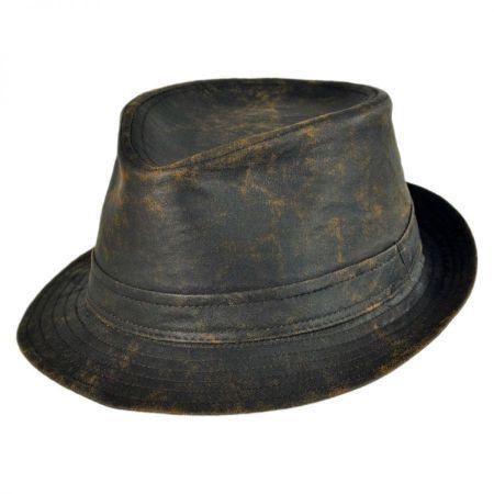 Jaxon Hats Weathered Cotton Trilby Fedora Hat