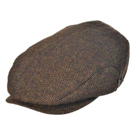Jaxon Hats Square Bill Herringbone Wool Ivy Cap