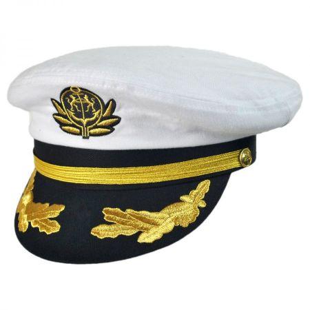 Village Hat Shop Deluxe Adjustable Yacht Captain Cap