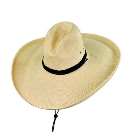 SunBody Hats Gus Wide Brim Guatemalan Palm Leaf Straw Hat