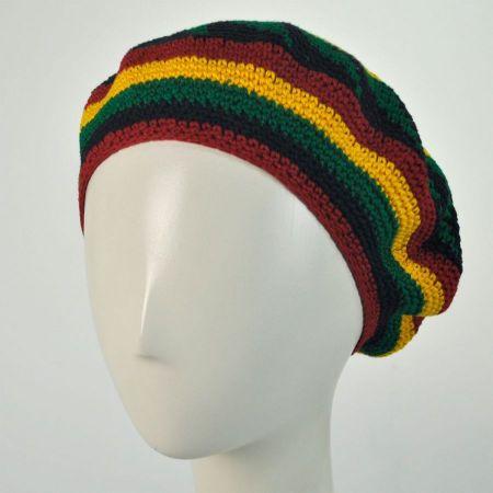 Philadelphia Rapid Transit Rasta Crocheted Cotton Beret