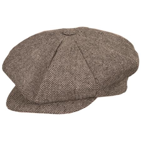 Jaxon Hats Herringbone Wool Blend Big Apple Cap