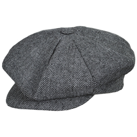 Jaxon Hats Herringbone Wool Blend Big Apple Cap