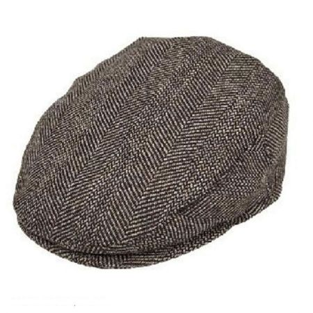 Jaxon Hats Mix Herringbone Wool Blend Ivy Cap