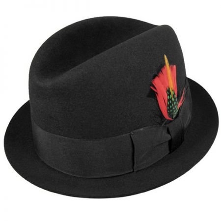 Jaxon Hats Rude Boy Fur Felt Trilby Fedora Hat