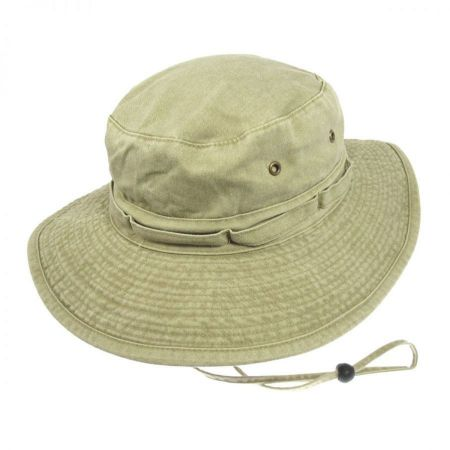 Village Hat Shop VHS Cotton Booney Hat - Khaki