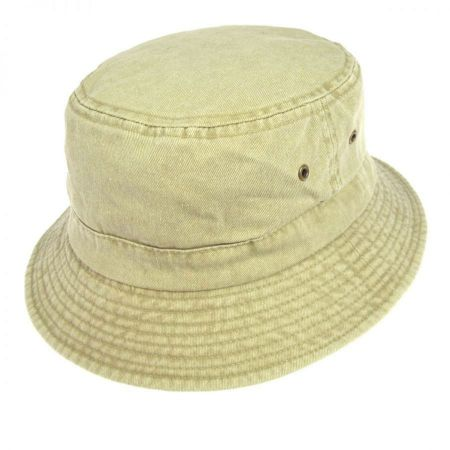 Village Hat Shop VHS Cotton Bucket Hat - Khaki
