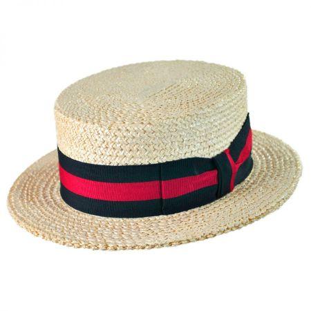 Capas Headwear Italian Straw Skimmer Hat