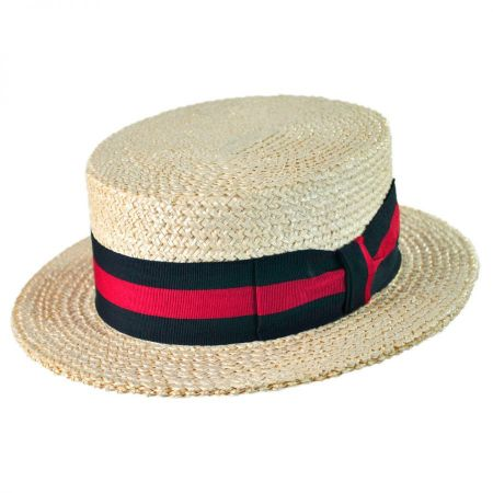 Italian Straw Skimmer Hat alternate view 17