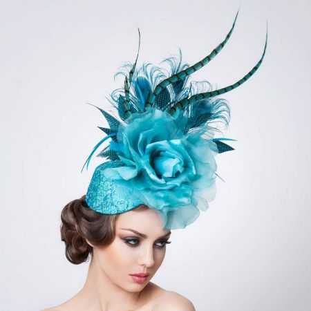 Jade Fascinator Hat
