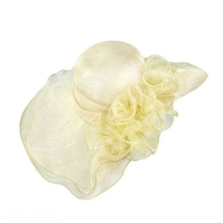 Jeanne Simmons Belle Ruffled Off Face Widebrim Hat