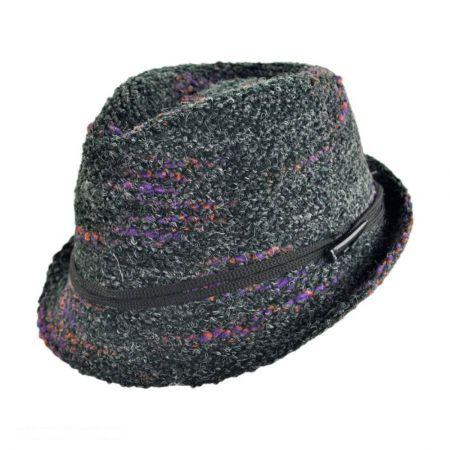 Jeanne Simmons Knit Yarn Fedora Hat