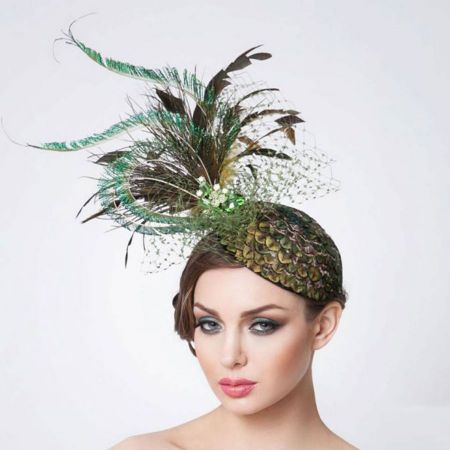 Arturo Rios Collection Emerald Fascinator Hat