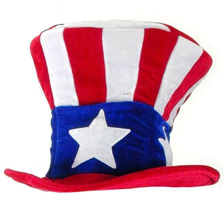 Uncle Sam Plush Top Hat - Adult Size
