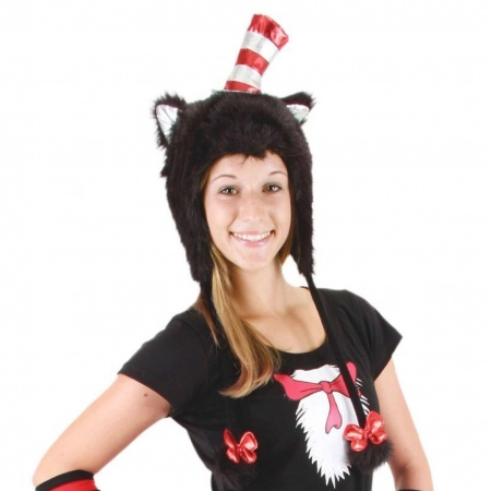 Cat in the Hat Furry Peruvian Beanie Hat