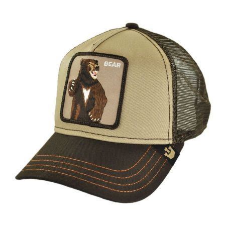 Bear Mesh Trucker Snapback Baseball Cap alternate view 1