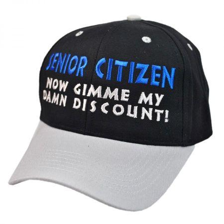 Senior Citizen Discount Snapback Baseball Cap
