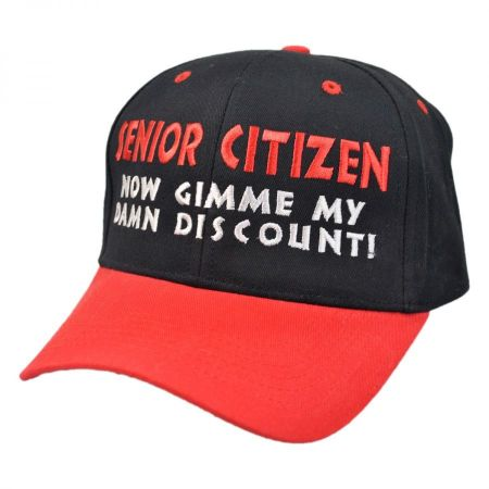 Village Hat Shop Senior Citizen Discount Snapback Baseball Cap