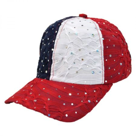 Something Special USA Jewel Adjustable Baseball Cap Sequin Hats 27dd51a401e