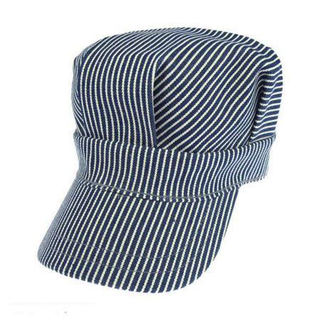 Engineer Striped Cotton Snapback Cap alternate view 1