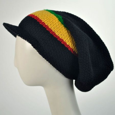 Ziggy Slouchy Cotton Knit Visor Beanie Hat