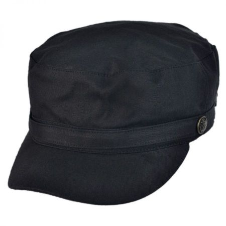 Herringbone Cotton Cadet Cap