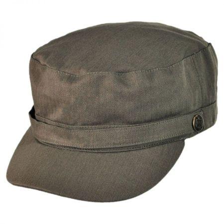 Herringbone Cotton Cadet Cap