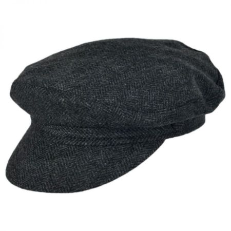 Jaxon Hats Herringbone Wool Blend Fiddler's Cap