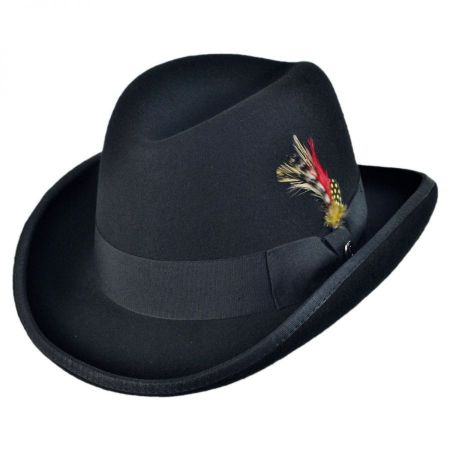Jaxon Hats Wool Homburg Hat