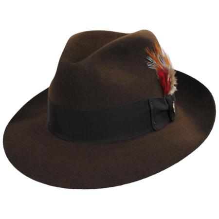 Stetson Temple Fur Felt Fedora Hat