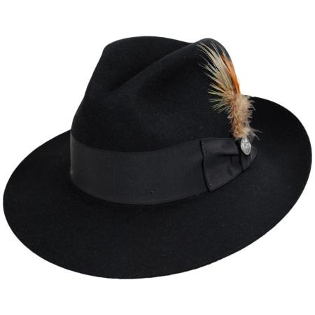 Stetson Temple Fur Felt Fedora Hat All Fedoras 8cc14c95a6bd