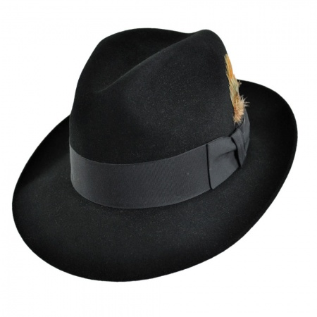 Temple Fur Felt Fedora Hat