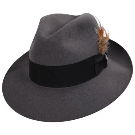 7fde636c7d869 Stetson Temple Fur Felt Fedora Hat All Fedoras