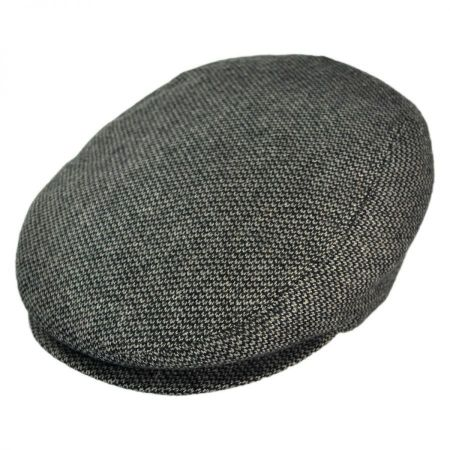 Jaxon Hats - Made in Italy Roma Tickweave Wool Blend Ivy Cap