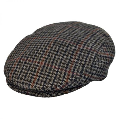 Jaxon Hats - Made in Italy Rotaldo Houndstooth Flat Cap