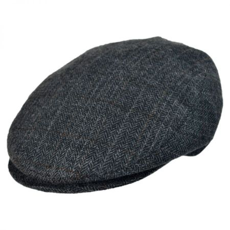 Jaxon Hats - Made in Italy Arno Herringbone Flat Cap