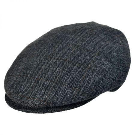 Arno Herringbone Flat Cap